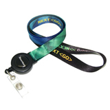 Full Color Printing Lanyards with Retractable Badge Reel