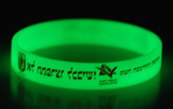 Glowing silicone bracelet