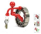 Hot Sale Cute Little Magnetic Man  Keychain