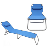Hot Selling 3 Positions Reclining Aluminium Folding Beach Ch