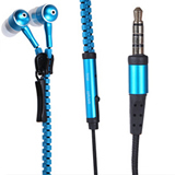 Hot Selling Metal In-ear Earphone Zipper Style Earplugs