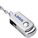 Hot Stainless Steel Rotatable USB Flash Drive 8GB