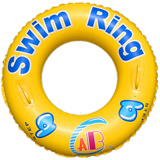 Inflatable Swim Ring;Custom Swim Lap