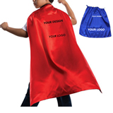 Kids Satin Super Hero Cape  With Velcro Neck