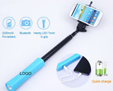 LED Power Bank Selfie Stick
