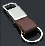Leatherette Metal Keychain