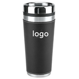 Leatherette Travel Tumbler - 16 oz