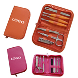 Manicure Set With Leather Case