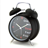 Metal Mini Lovely Table Double Bell Desk Alarm Clock