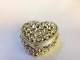 Metal diamond jewelry box