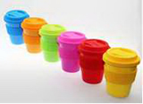 Mini Ceramic Coffee Mug with Silicone Cap