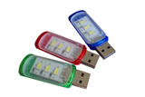 Mini Portable USB 3 LED White Light Night Lamp Camping Readi