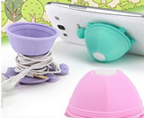 Multifunction Tortoise Earphone Winder and Phone Holder