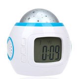 Music Star Sky Projection Alarm Clock with Calendar