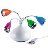 New Arrival Vase Shpe USB 2.0 4-port HUB Driver with LED Lig