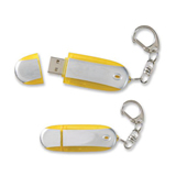 Oval 1GB USB Flash Drive With Keychain