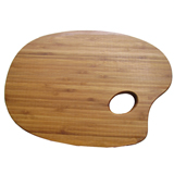 Oval Shaped Bamboo Cutting Board, Chopping Board