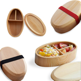 Oval  Wooden Lunch Box