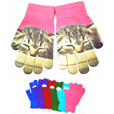Pantone Matched Touch Screen Gloves With Full Color Imprint