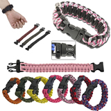 Paracord Survival Bracelet With Whistle Buckle