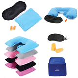 Pillow, Ear Plug and Eye Mask Travel Set