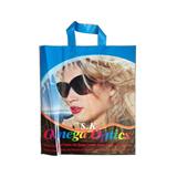 Plastic Bag With Fused Soft Loop Handle