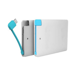 Portable Card Power Bank Charger 2600 mAh With Data Cable