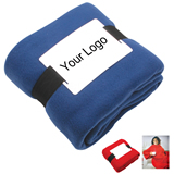 Portable Fleece Blanket With Sleeves