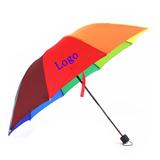 Promotion Logo Rainbow Folding Umbrella