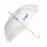 Promotion Logo Transparent Folding Umbrella