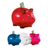Promotional Translucent Piggy Coin Bank