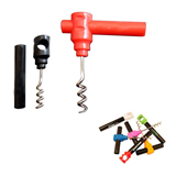 Promotional Wine Cork Screw Bottle Opener with safety tube