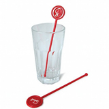 Rotation Head Stir Sticks w/ Heat-resisting Plastic Muddlers