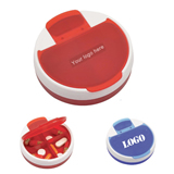 Round 4 Compartment Pill Case Medicine Box