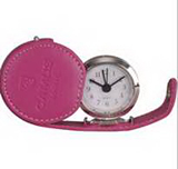Round Alarm Clock in PU Case