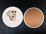 Round Ceramic Drink Coasters