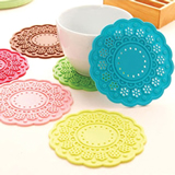 Round Flower Shape Cup Coaster