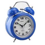 Round Metal Double  Bell Twin Digital Alarm Clock