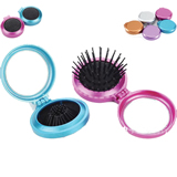Round Shape Hair Brush With Mirror