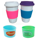 Silicone Non-slip Cup Sleeve Heat Proof Cup Set