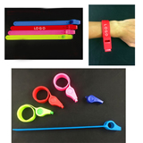 Silicone Slap Wristband Whistle