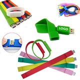 Silicone Wrist Band With 4 GB USB Drive