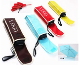 Silkscreen Umbrella, Customized  Polyester Folded pocket umb