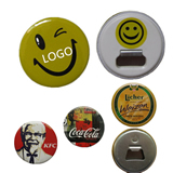 Smiling Face Round Badges