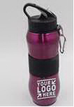 Stainless Steel Sports Bottle with Carabiner