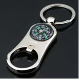 Three in One Key Holder with Compass and Bottle Opener