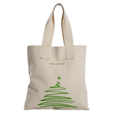 Two-Tone Accent Gusseted Tote Bags