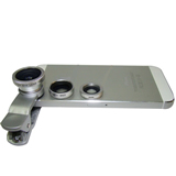 Universal Clip Fisheye Wide Angle Macro 3 in 1 Lens for Mobi