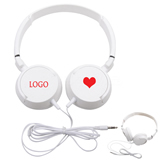 White Ear Set Earphones for Advertising