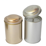 White Round Empty Tin
